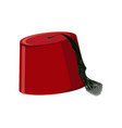 traditional turkish hat fez or tarboosh vector image vector image