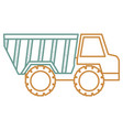 truck dump isolated icon vector image vector image