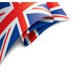 united kingdom flag on a vector image vector image