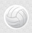 volleyball white wallpaper vector image vector image