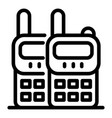 walkie talkie guard icon outline style vector image vector image
