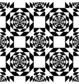 white kaleidoscope mirage on black background vector image