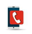 white smartphone telephone network digital vector image vector image
