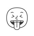 wicked smile fase black and white emoji eps 10 vector image vector image