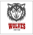 Wolf logo for a sport team vector image vector image