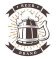 wooden cup beer vector image