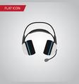 isolated headphone flat icon earphone vector image