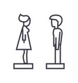 woman and man in profile line icon sign vector image