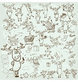 Cellection of Christmas Reindeer vector image