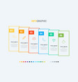 6 options rectangular workflow layout infographic vector image vector image