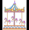 A horse ride at the carnival vector image