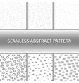 abstract gray seamless patterns set vector image