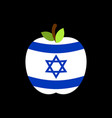apple israel flag israeli national fruit vector image vector image