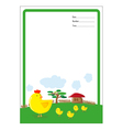 background hen and chick cartoon vector image vector image