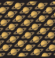 background pattern with saturn planet vector image vector image