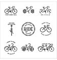 bicycle related typography set vintage vector image