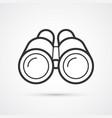binoculars flat line black icon eps10 vector image