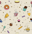 candy goodies pattern line art cakes for birthday vector image vector image