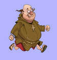 cartoon cheerful man in a catholic monks cassock vector image vector image