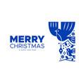 christmas and new year scandinavian bird card vector image vector image