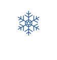 christmas snowflake line icon concept christmas vector image vector image