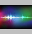 colorful abstract digital sound wave oscillating vector image vector image