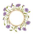 cornflower frame vector image