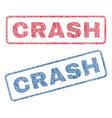 crash textile stamps vector image vector image