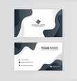 creative professional business card template vector image vector image