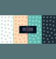 cute flower style small pattern set design vector image vector image