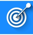 Darts target icon vector image