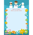 Doctor Present How to Protect Germ Frame vector image vector image