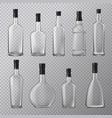 empty alcohol bottles set vector image