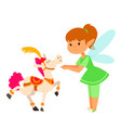Fairy princess girl character cute