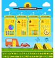 Flat Camping Infographic Template vector image