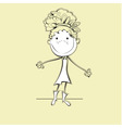 funny girl vector image vector image