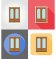 furniture flat icons 01 vector image vector image