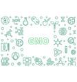 gmo concept horizontal frame - outline vector image