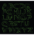green alphabet vector image