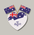 happy australia day poster with australian flag on vector image vector image