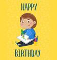 happy birthday kids postcard template vector image