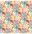 hipster seamless pattern fashion background with vector image vector image