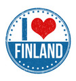 i love finland stamp vector image vector image