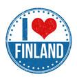 i love finland stamp vector image