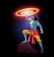 lord krishna holding sudarshan chakra vector image