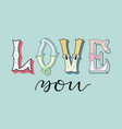 love7eps vector image vector image