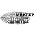 makeup word cloud concept vector image vector image