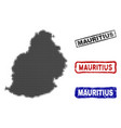 mauritius island map in halftone dot style with vector image vector image
