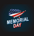 memorial day greeting card waving national flag vector image