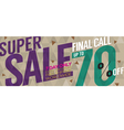 Modern Banner Super Sale Up to 70 Percent vector image vector image